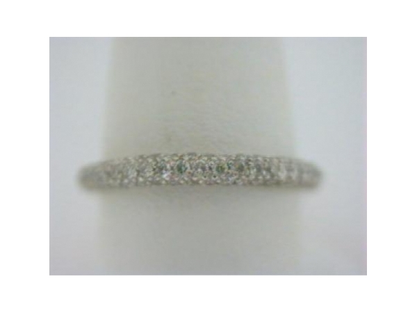 Diamond Wedding Band - Ladies platinum diamond wedding band.  This band features 133 prong set round brilliant cut diamonds.  The diamonds are G-H color, VS2-SI1 clarity and weigh 0.65 ct.  This ring is size 6.25.