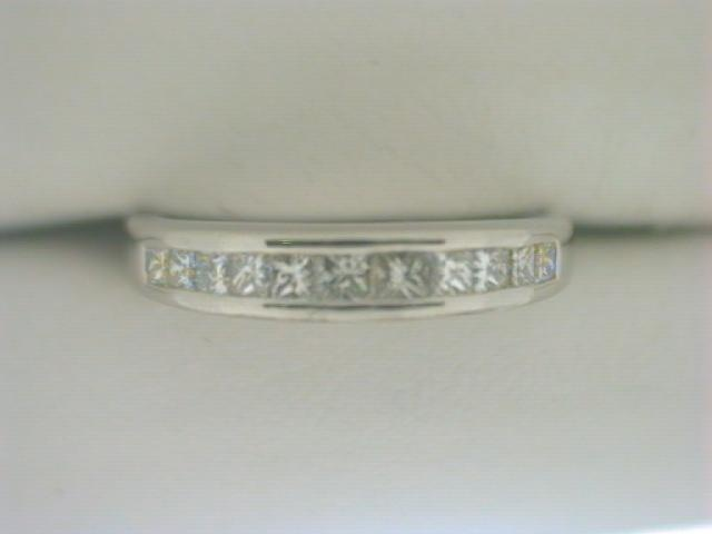 Diamond Wedding Band - Ladies platinum high polished diamond wedding band.  This band features 11 channel set princess cut square diamonds.  These diamonds are G-H color, VS2 - SI1 clarity and weigh 0.40 ct. tw.  The band weighs 5.00 grams and is size 6.75.