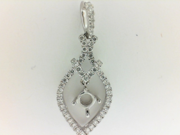 Diamond Semi-Mount Pendant/Necklace by Elma-Gil