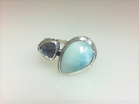 Colored Stone Ring by Marahlago Larimar