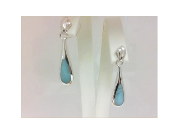 Colored Stone Earrings by Marahlago Larimar