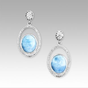 Osaka Earrings by Marahlago Larimar