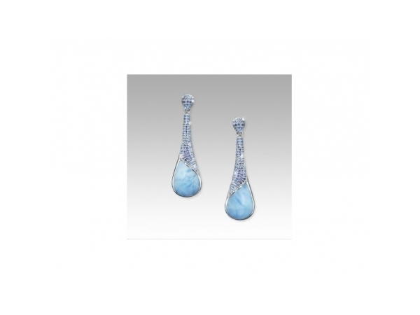 Rain Earrings by Marahlago Larimar