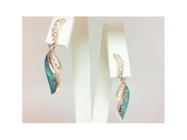 Colored Stone Earrings by Kabana