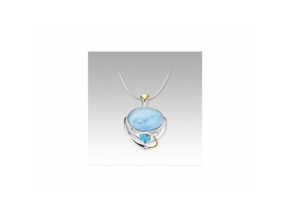 Lena Necklace by Marahlago Larimar