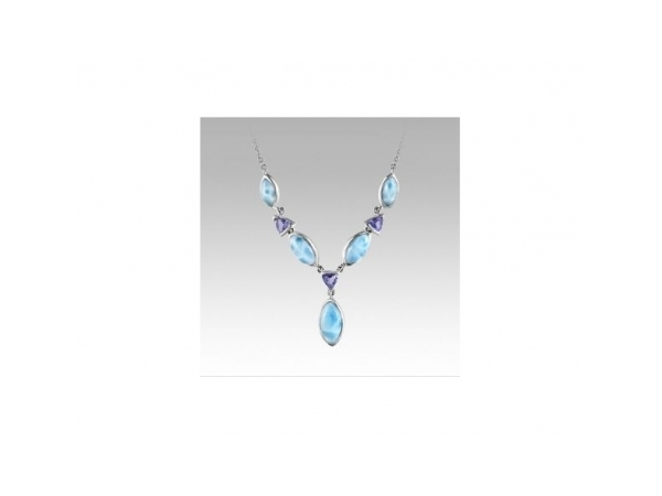 Paloma Necklace by Marahlago Larimar