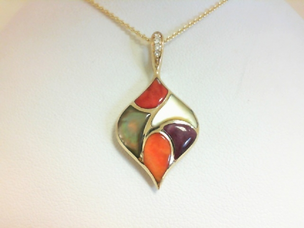 Colored Stone Necklace by Kabana