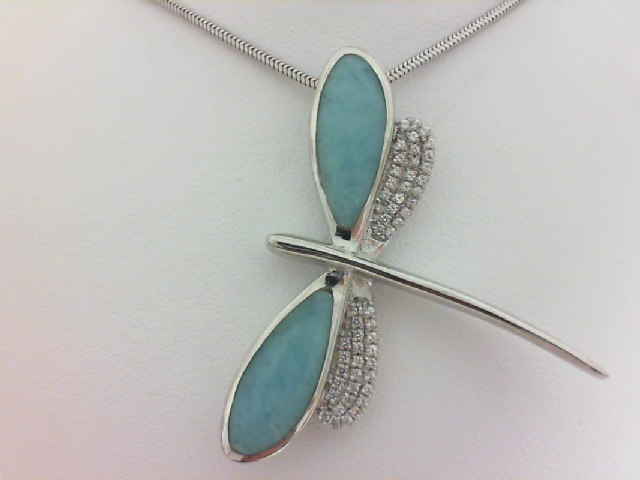 Colored Stone Necklace by Marahlago Larimar