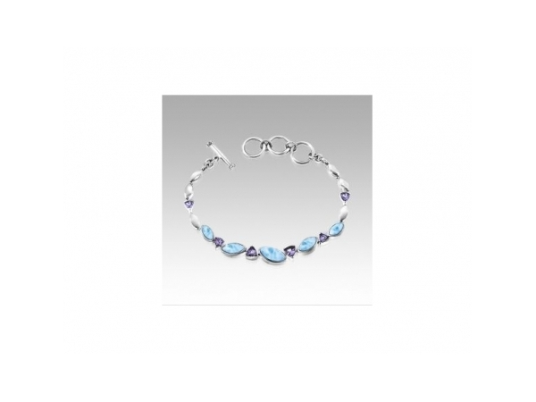 Colored Stone Bracelet by Marahlago Larimar